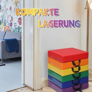 6er Set Kinder Quadratische Stuhlkissen Bodenkissen Sitzkissen