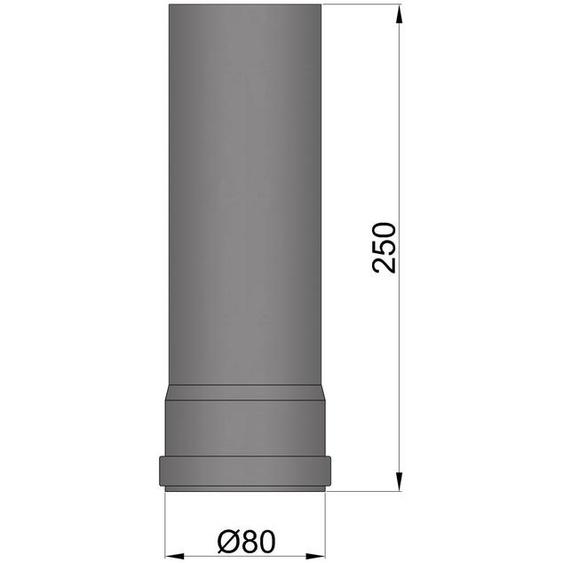 79,87 €/m Rauchrohr Schwarz 150x150mm Kaminrohr Kamin Stahlblech 2mm
