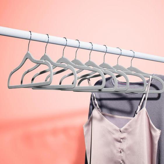 8 extraschmale Kleiderbügel   - Grau -