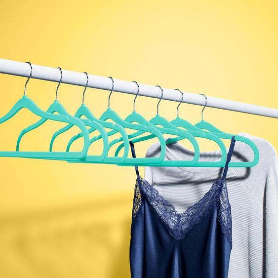 8 extraschmale Kleiderbügel - silber -