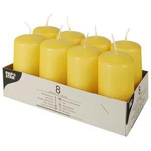 8 PAPSTAR Kerzen goldgelb