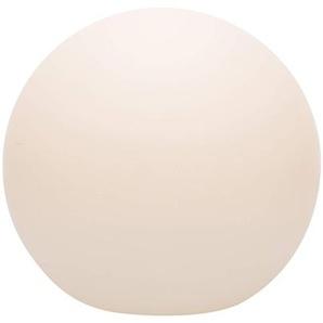 8 seasons design | Beleuchtete Dekokugel Shining Globe (E27, Ø 30 cm, matt, IP44, Kugel Beleuchtung für Haus, Garten, Balkon, Terrasse, Außenkugelleuchte) weiß