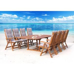 8-Sitzer Gartengarnitur Cuba mit Polster