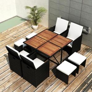 8-Sitzer Gartengarnitur Delron mit Polster
