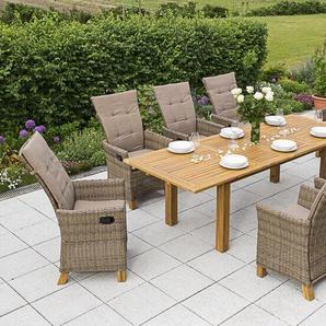 8-Sitzer Gartengarnitur mit Polster