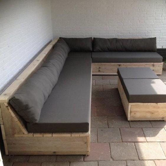 8-Sitzer Lounge-Set Murry mit Polster
