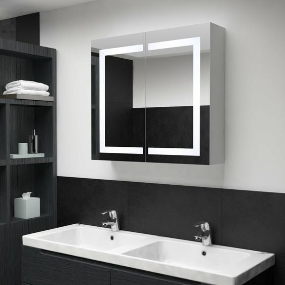 80 cm x 68 cm Spiegelschrank Staab mit LED Beleuchtung