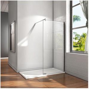 80x200cm Walk-IN Duschkabine Duschabtrennung 10mm NANO Glas+Stabilisatorstange für die Dusche - AICA SANITAIRE