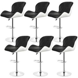 8× Barhocker Tresenhocker Stuhl Küchenhocker , Höhenverstellbar,360° drehbar - OOBEST