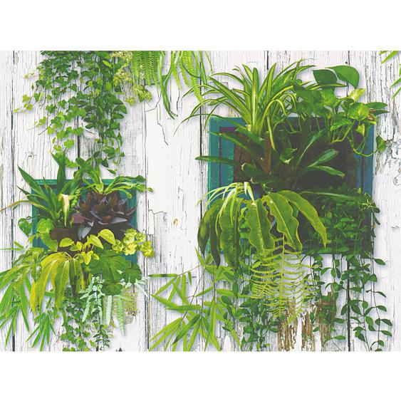 A.S. Création Papiertapete Authentic Walls 2 Pflanzenwand Weiß-Grün