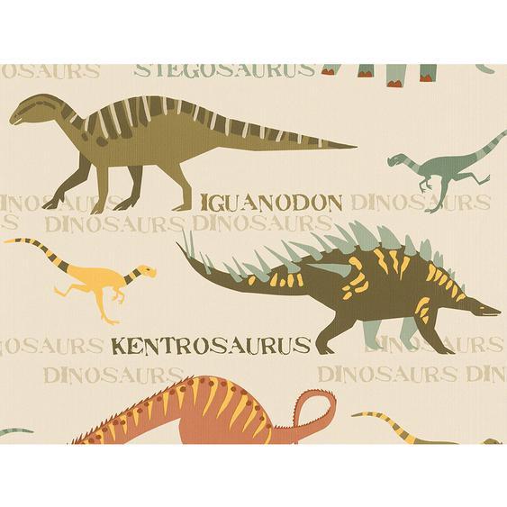 A.S. Creation Papiertapete Boys & Girls 5 Dinosaurier Grün-Beige