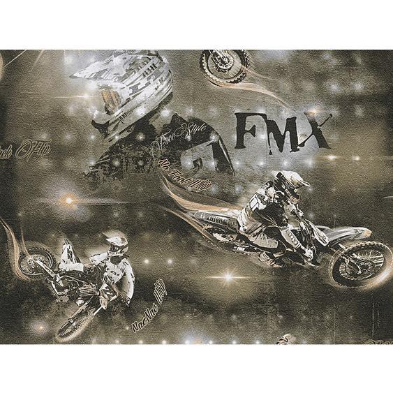 A.S. Creation Papiertapete Boys & Girls 5 Motocross Braun