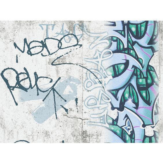 A.S. Création Papiertapete Boys & Girls 6 Graffiti Grau-Blau