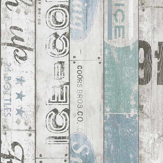 A.S. Création Papiertapete »Boys & Girls 6 in maritimer Vintage Holz Optik«, geprägt, Holz