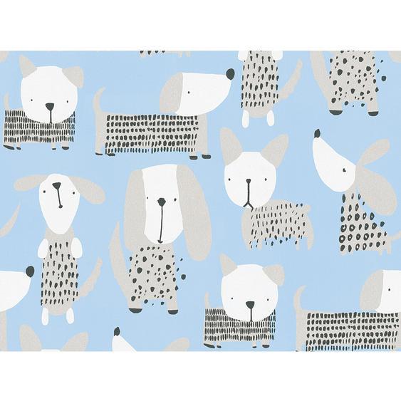 A.S. Création Papiertapete Boys & Girls 6 Tiere Blau-Beige