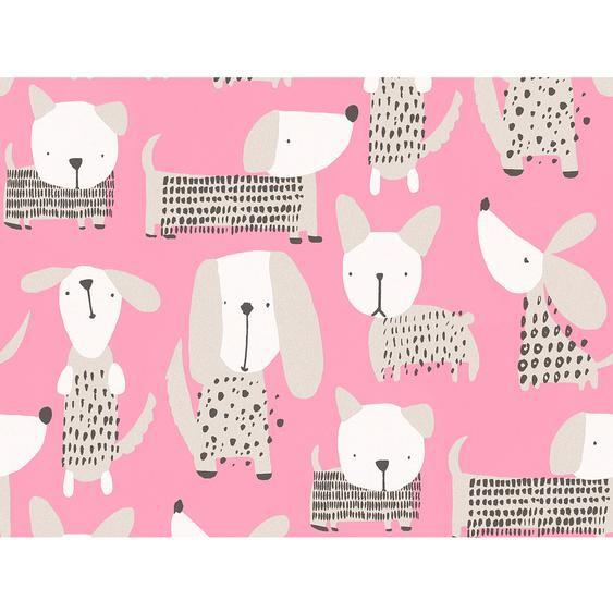 A.S. Création Papiertapete Boys & Girls 6 Tiere Pink-Beige
