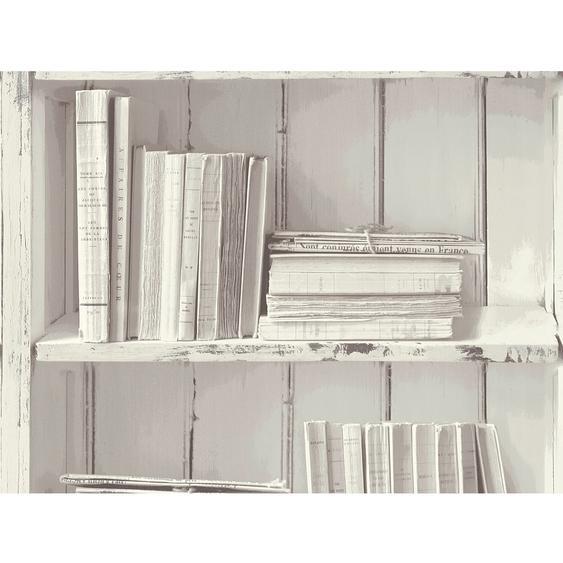 A.S. Création Vliestapete Authentic Walls 2 Bücherregal Weiß