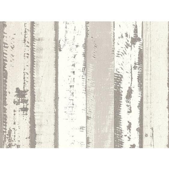 A.S. Création Vliestapete Authentic Walls 2 Holzfassade Creme-Beige