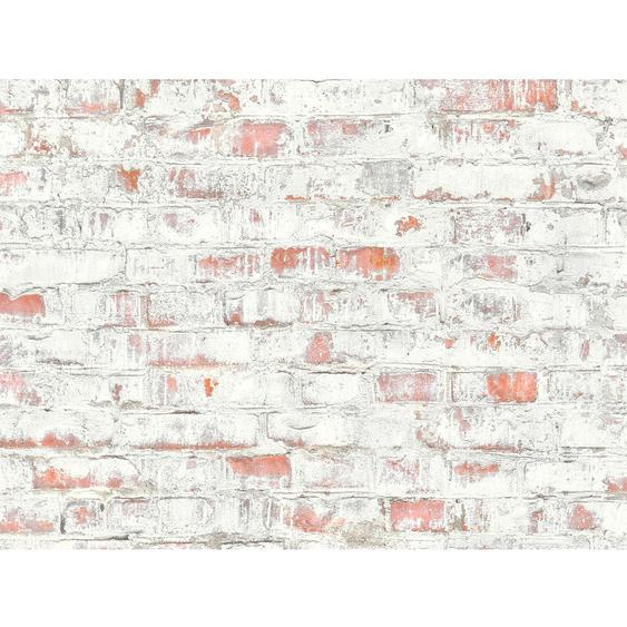 A.S. Création Vliestapete Authentic Walls 2 Stein Rot-Grau