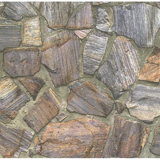 A.S. Création Vliestapete Best of Wood´n Stone Bruchstein Braun-Grau