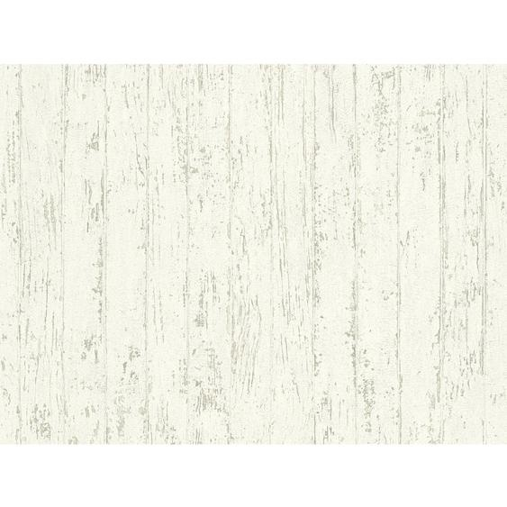 A.S. Création Vliestapete Best of Wood´n Stone Holz Weiß-Grau