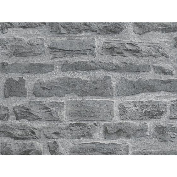 A.S. Création Vliestapete Best of Wood´n Stone Mauerstein Anthrazit