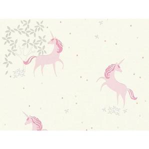 A.S. Création Vliestapete Boys & Girls 6 Einhorn Weiß-Pink