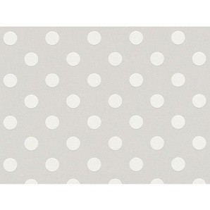 A.S. Création Vliestapete Boys & Girls 6 Punkte Weiß-Grau