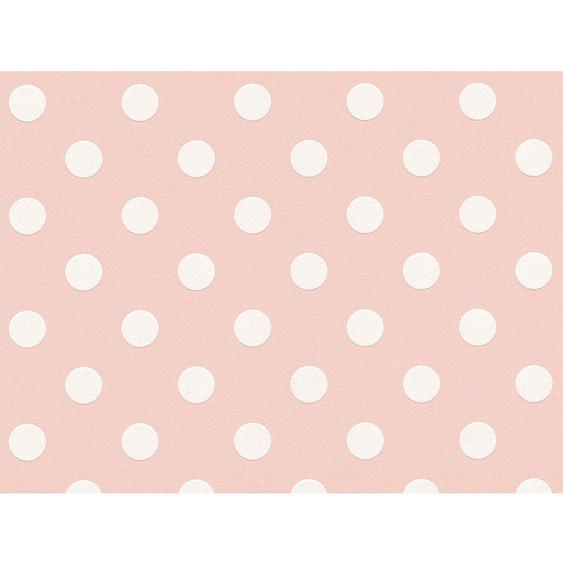 A.S. Création Vliestapete Boys & Girls 6 Punkte Weiß-Rosa