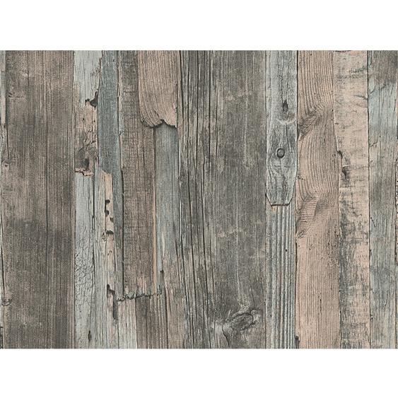 A.S. Creation Vliestapete Decoworld Holz Dunkelbraun