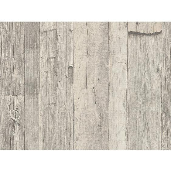 A.S. Creation Vliestapete Dekora Natur Holz Grau