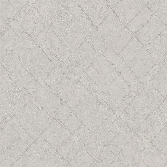 A.S. Création Vliestapete »Emotion Graphic«, strukturiert, unifarben mit Farbeinsatz, Beton