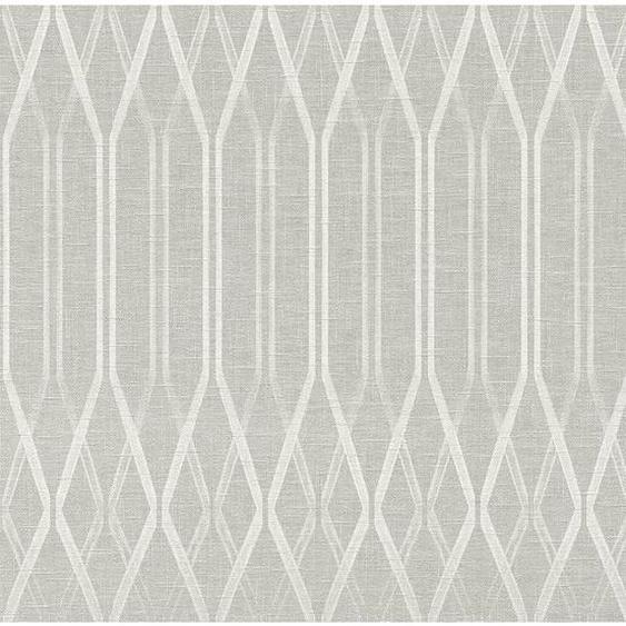 A.S. Creation Vliestapete Grafik Linen Grau