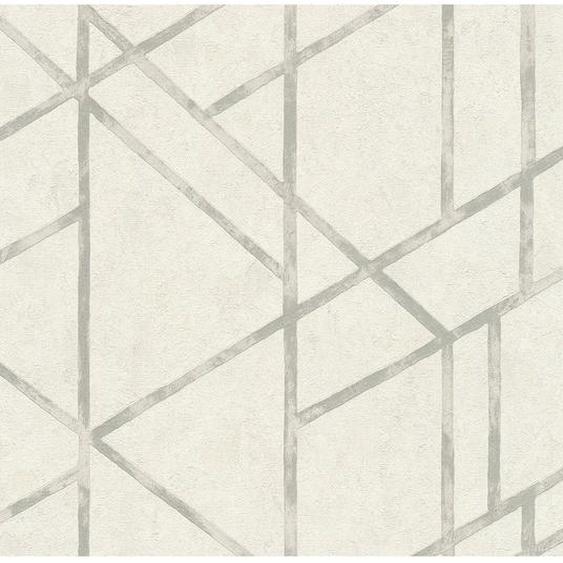A.S. Creation Vliestapete Metropolitan Francesca Milano Geometrie Weiß-Grau