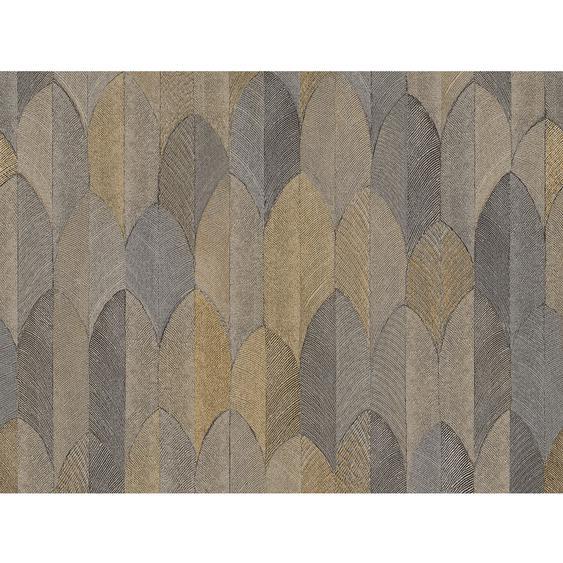 A.S. Création Vliestapete Sumatra Muster Braun-Gold