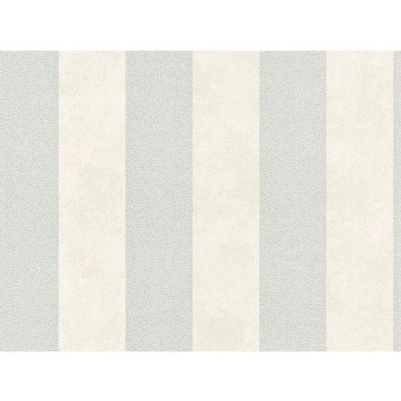 A.S. Création Vliestapete Trendwall Streifen Creme-Silber