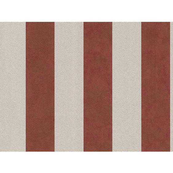 A.S. Création Vliestapete Trendwall Streifen Rot-Silber