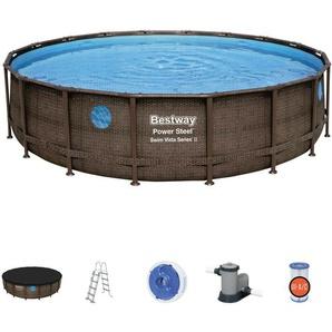 Bestway Power Steel Vista Pool Set 549x122 Rattan 56977