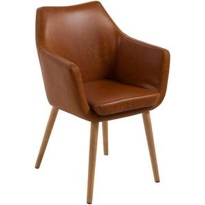AC Design Furniture Stuhl Trine, B: 58 x T:58 x H: 84 cm, Metall, Braun