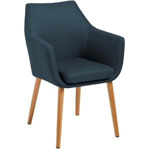 AC Design Furniture Stuhl Trine, B: 58 x T:58 x H: 84 cm, Metall, Blau