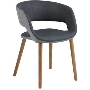 AC Design Grace Stuhl 56x52x79cm Dunkelgrau/Grau/Eiche Dunkelgrau/Grau/Eiche