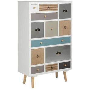 AC Design Thais Kommode 70x30x114cm 13 Schubladen Mehrfarbig Mehrfarbig