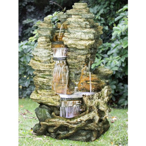 AcquaArte Gartenbrunnen-Set Miami 157 cm x 106 cm x 83 cm LED