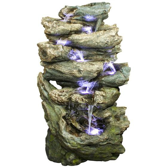 AcquaArte Gartenbrunnen-Set Oakland 152 cm x 91 cm x 68 cm LED