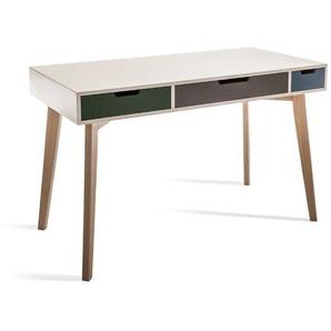 Actona Schreibtisch, Bunt, Holz