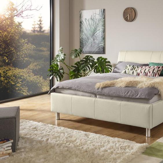 ADA trendline Polsterbett Fossey Leder SLW, 180x200 cm Höhe Bettseite: 44 cm, ohne Matratze beige Doppelbetten Betten