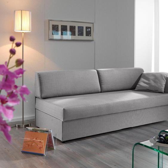 ADA trendline Recamiere Struktur weich, 207 cm, Armlehne rechts, Kaltschaum, mit Komforthöhe grau Polsterliegen Gästebetten Betten Sofas
