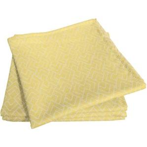 Adam Stoffserviette Graphic Ventus Light, (4 St.), nachhaltig Bio-Baumwolle gelb Stoffservietten Tischwäsche