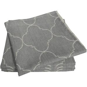 Adam Stoffserviette Indian Cortezada Light, (4 St.), nachhaltig Bio-Baumwolle grau Stoffservietten Tischwäsche