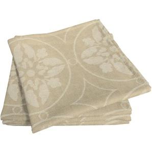 Adam Stoffserviette Romantic Puligny Light, (4 St.), nachhaltig Bio-Baumwolle beige Stoffservietten Tischwäsche